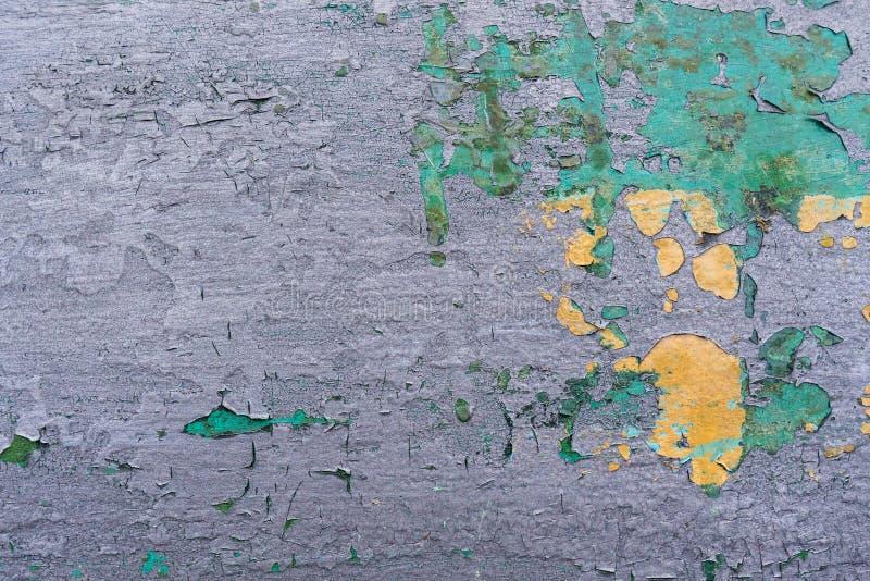 Il metallo colorato arrugginito del primo piano, lerciume astratto ha corroso il fondo d'acciaio, il retro contesto metallico d'a fotografia stock