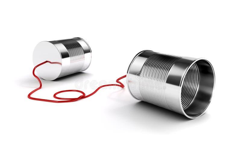 il metallo 3d inscatola il telefono illustrazione di stock