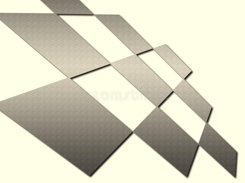 Il metallo quadra l'estratto illustrazione vettoriale