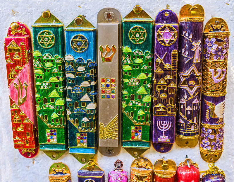 Il mezuzah da Gerusalemme immagini stock libere da diritti