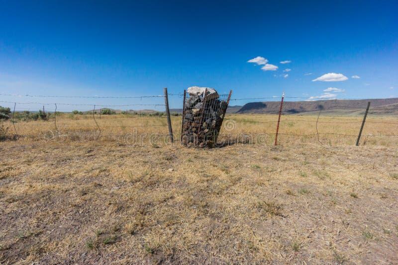 Il mezzo di nessuna parte, versione dell'Oregon fotografia stock