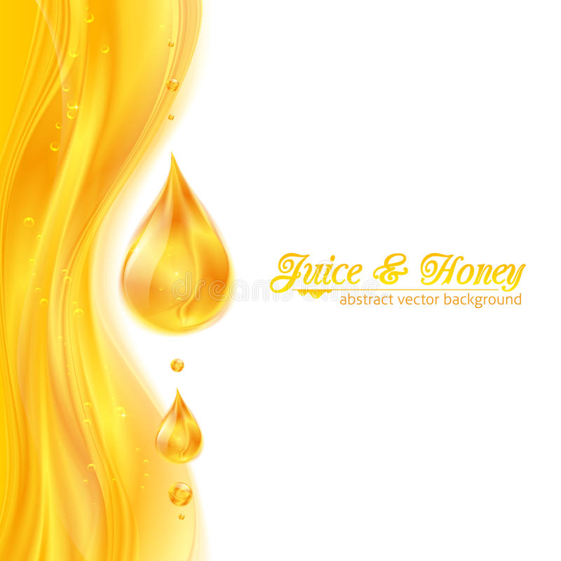 Il miele colora il fondo succoso di vettore con le gocce illustrazione di stock