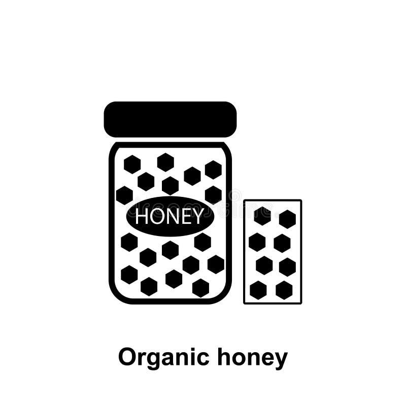 il miele si pettina nell'icona del barattolo Elemento dell'icona di apicoltura Icona premio di progettazione grafica di qualità S illustrazione di stock