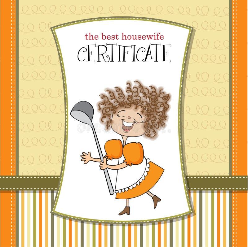 Il migliore certificato del wifehouse royalty illustrazione gratis