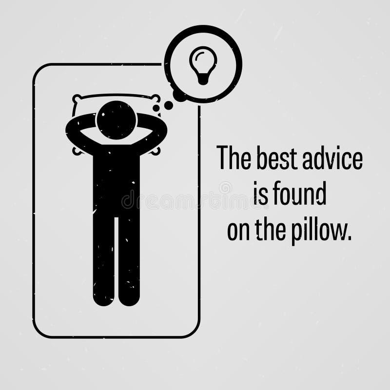 Il migliore consiglio è trovato sul cuscino royalty illustrazione gratis