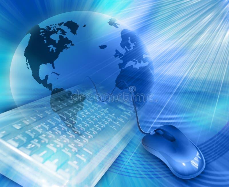 Il migliore illustratio globale di comunicazione del Internet illustrazione di stock