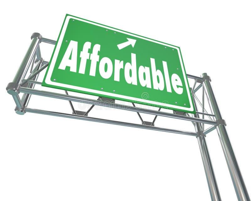 Il migliore prezzo basso accessibile del valore esprime il segno dell'autostrada senza pedaggio illustrazione vettoriale