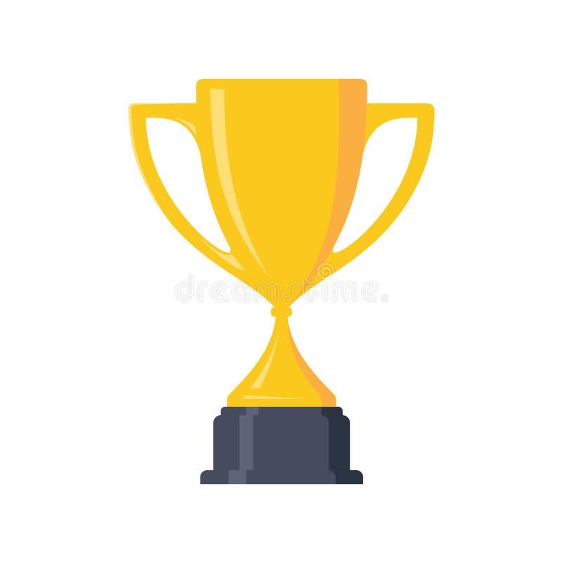 Il migliori premio e vittoria semplici del trofeo del vincitore della tazza di campione progettano l'elemento illustrazione di stock