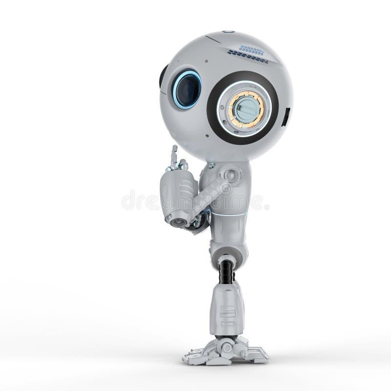 Il mini robot pensa illustrazione vettoriale