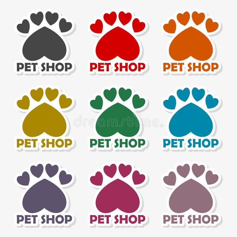 Il mio animale domestico caro, modello per i negozi di animali - illustrazione di progettazione di logo di vettore illustrazione di stock