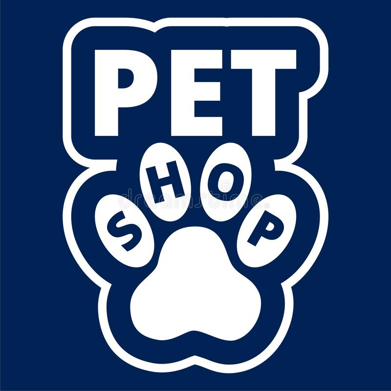 Il mio animale domestico caro, modello per i negozi di animali - illustrazione di progettazione di logo di vettore illustrazione vettoriale