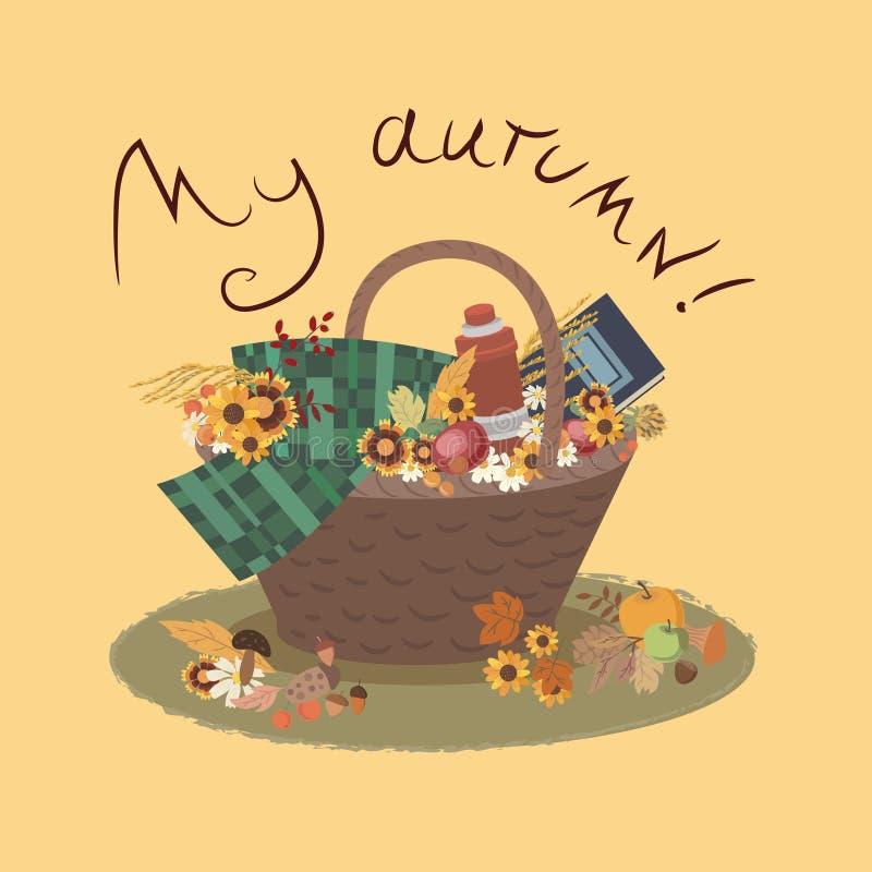 Il mio bello autunno illustrazione di stock