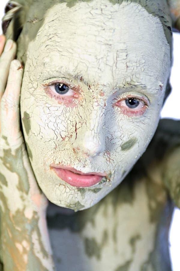 Il mio fronte brutto verde immagine stock