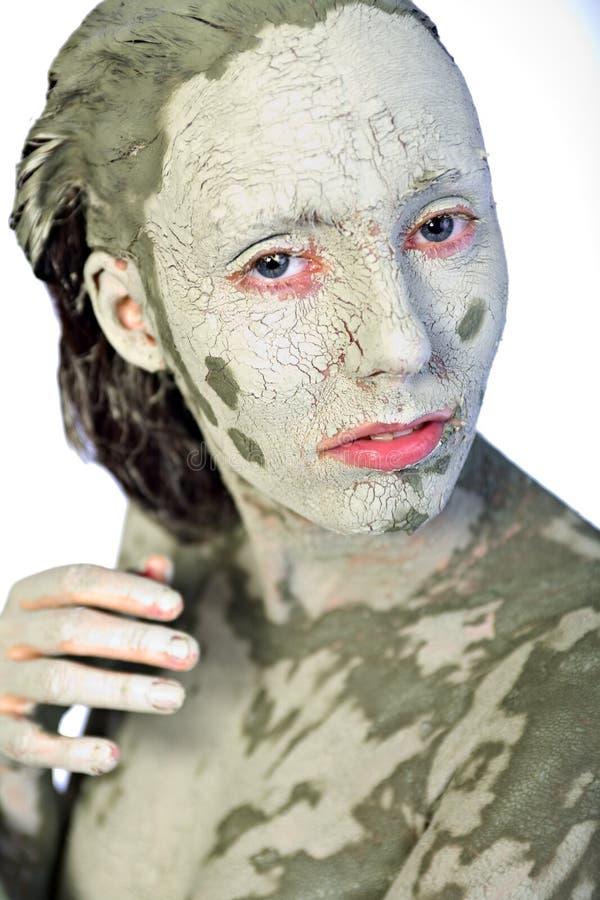 Il mio fronte brutto verde fotografia stock