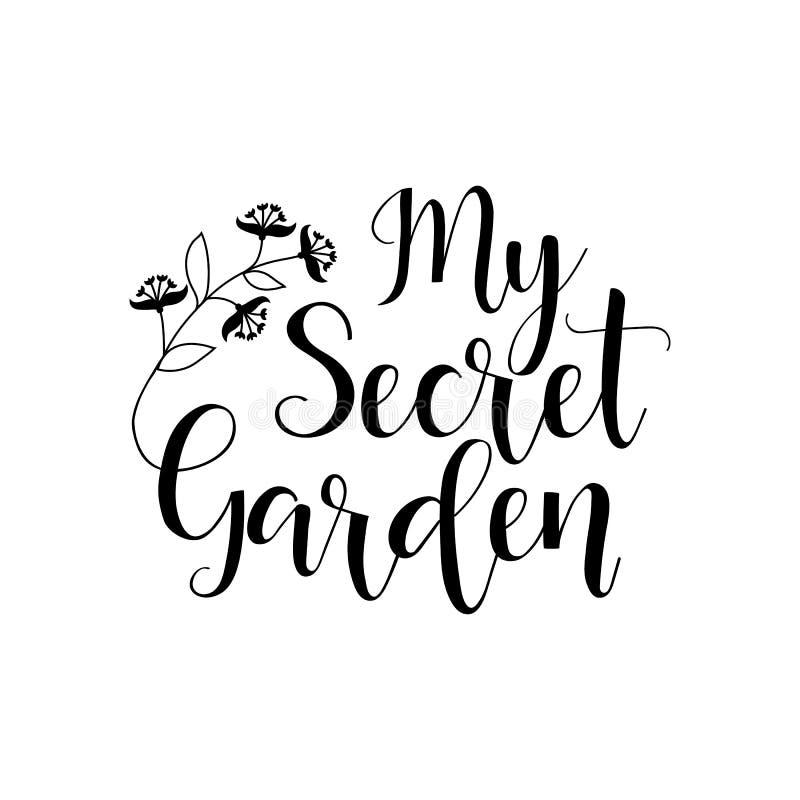 Il mio giardino segreto iscrizione Illustrazione di vettore illustrazione vettoriale