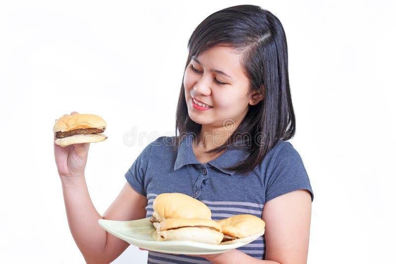 Il mio hamburger delizioso fotografia stock