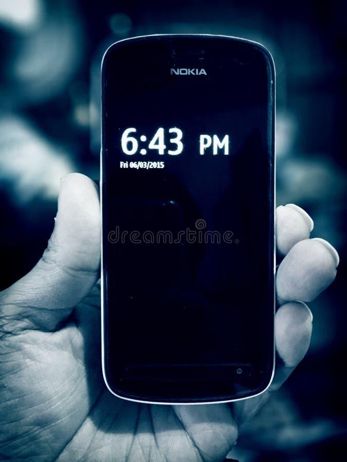 Il mio telefono di Nokia PureView 42mp fotografie stock