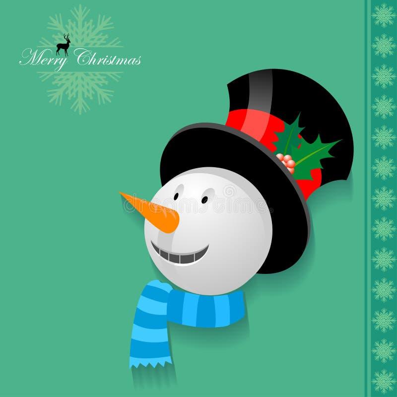 Il mio uomo Ghiaccio di Natale illustrazione vettoriale