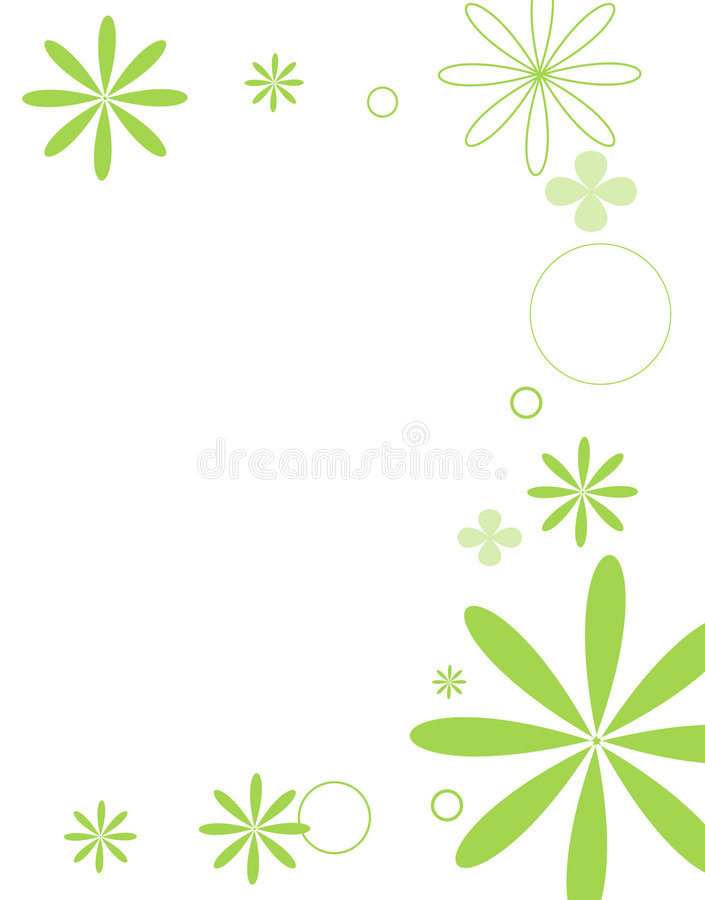 Il MOD fiorisce verde intenso royalty illustrazione gratis