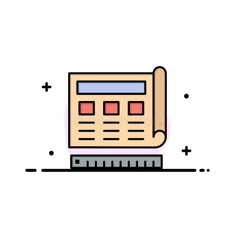 Il modello, blu, stampa, sito Web, linea piana di affari di web ha riempito il modello dell'insegna di vettore dell'icona illustrazione vettoriale