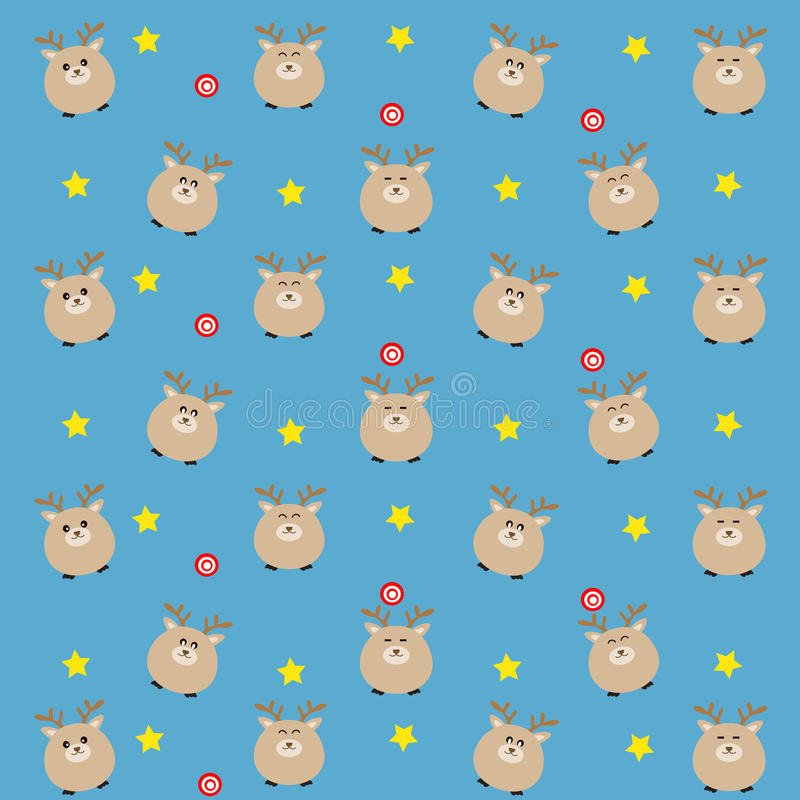 Il modello caro blu con la caramella e le stelle illustrazione di stock
