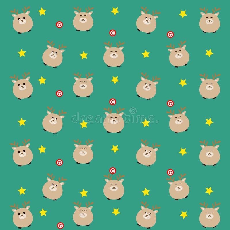Il modello caro di colore blu-verde con la caramella e le stelle illustrazione di stock