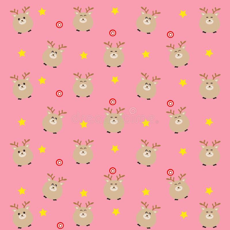 Il modello caro rosa con la caramella e le stelle illustrazione di stock