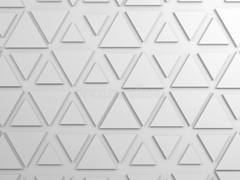 Il modello dei triangoli, 3d rende l'illustrazione fotografia stock
