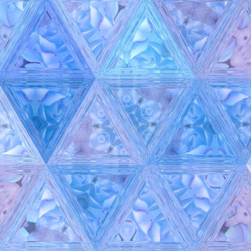 Il modello dei triangoli delle rose di inverno per la carta o carta da parati ed il tessuto tenero stampano fotografie stock