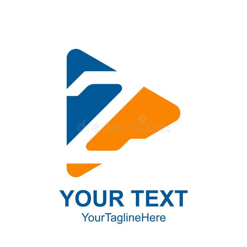 Il modello di logo della lettera iniziale Z ha colorato i Bu blu gialli del gioco di media royalty illustrazione gratis