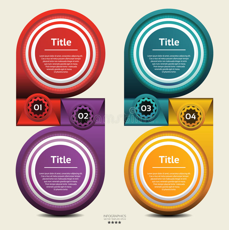 Il modello di progettazione moderna/può essere utilizzato per il infographics/insegne numerate o il vettore della disposizione del illustrazione di stock