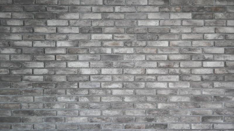 Il modello di vecchio bello muro di mattoni grigio chiaro e di struttura immagini stock