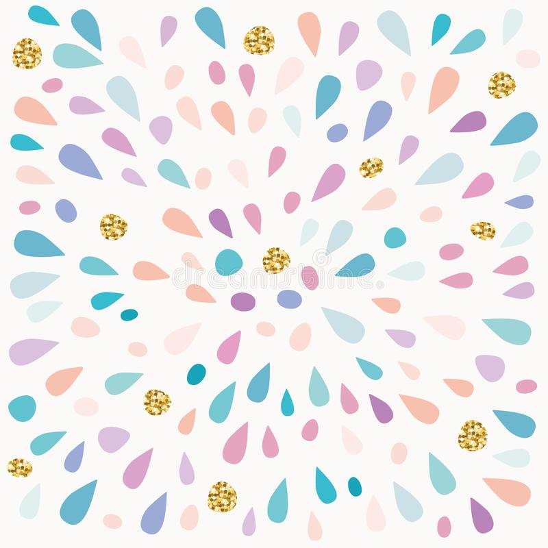 Il modello festivo con pittura spruzza ed i punti di scintillio illustrazione di stock