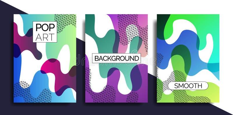 Il modello funky di progettazione stampa fot i prodotti illustrazione vettoriale