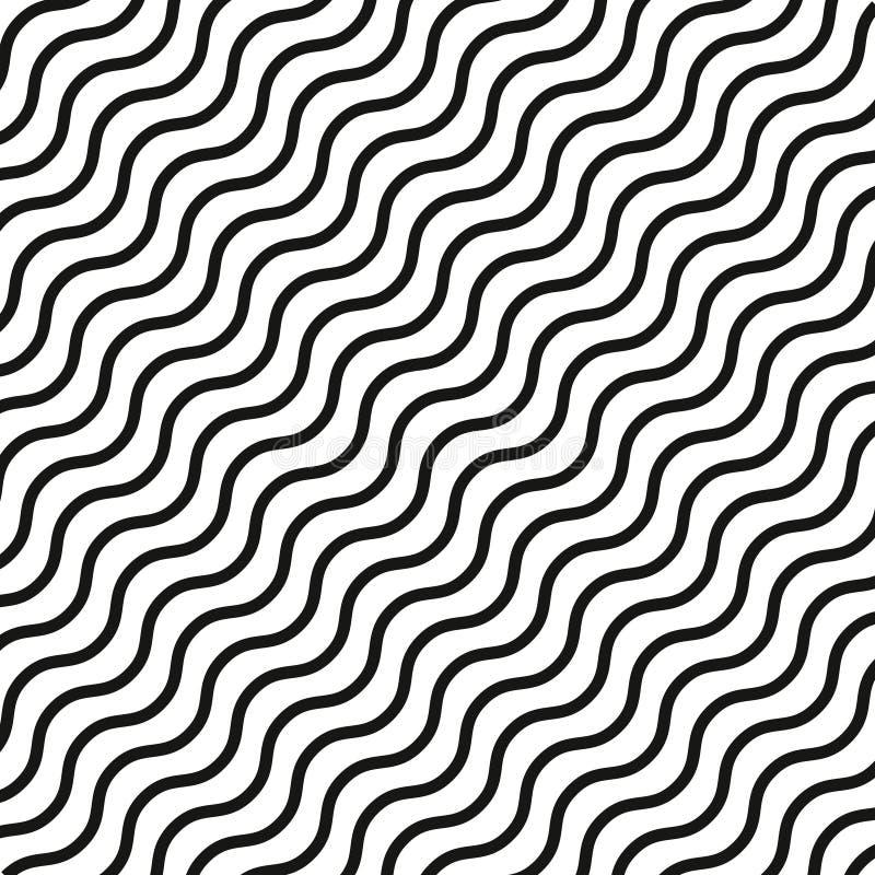 Il modello geometrico delle linee, bande modello di onda diagonale delle bande nere Modello moderno grafico royalty illustrazione gratis