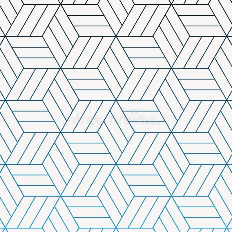 Il modello geometrico di vettore, ripetente la forma lineare del rombo della banda ha collegato ciascuno, la stella astratta, il  royalty illustrazione gratis
