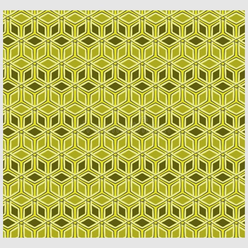 Il modello geometrico floreale astratto di Netrivail, fondo, vector senza cuciture illustrazione vettoriale