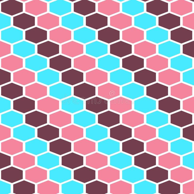 Il modello geometrico senza cuciture delle linee colorate modella il fondo illustrazione di stock