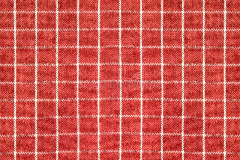 Il modello la superficie del tessuto è contrapposizione rossa e bianca immagine stock libera da diritti
