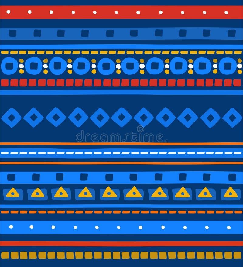 Il modello nazionale, modello senza cuciture, blu, bande, vettore illustrazione di stock