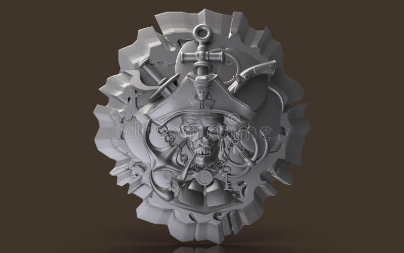 Il modello per l'espressione, logo, emblema, affare, talismano, previsione, futuro, 3d modelli, ispirazione, decorazione, lavoro,