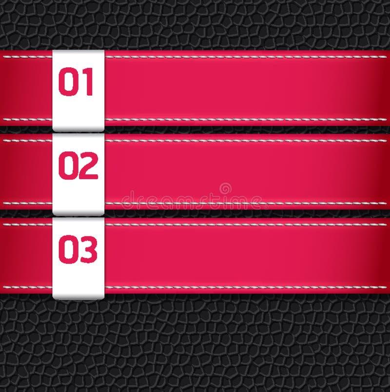 Il modello rosa di cuoio di disegno di colore/può essere usato per infographic illustrazione di stock