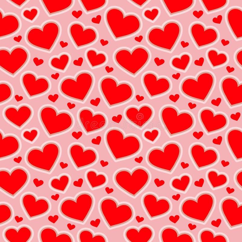 Il modello senza cuciture di cuore dipende un fondo rosa per i tessuti, le carte da parati, le tovaglie, le stampe e le progettaz illustrazione di stock