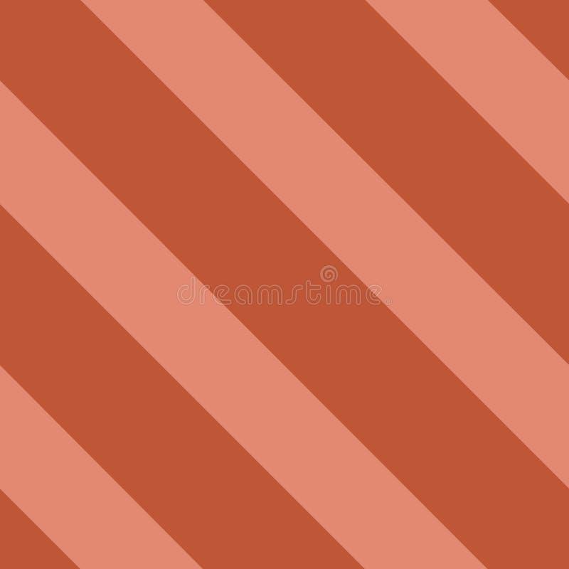 Il modello senza cuciture di vettore con il modello diagonale a strisce ha inclinato le linee colore di corallo d'avanguardia illustrazione di stock