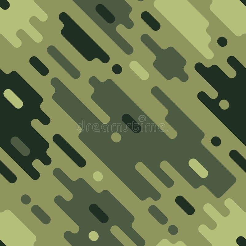 Il modello senza cuciture variopinto moderno del cammuffamento abbaglia il modello della pittura Struttura geometrica di vettore illustrazione di stock
