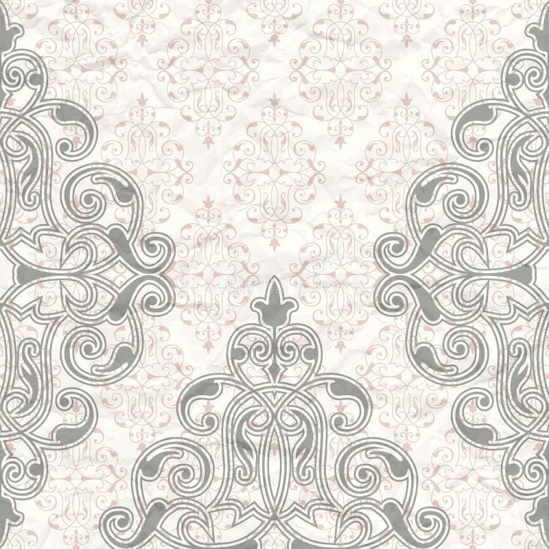 Download Il Modello Su Fondo D'annata Illustrazione Vettoriale - Illustrazione di lusso, piante: 30831943