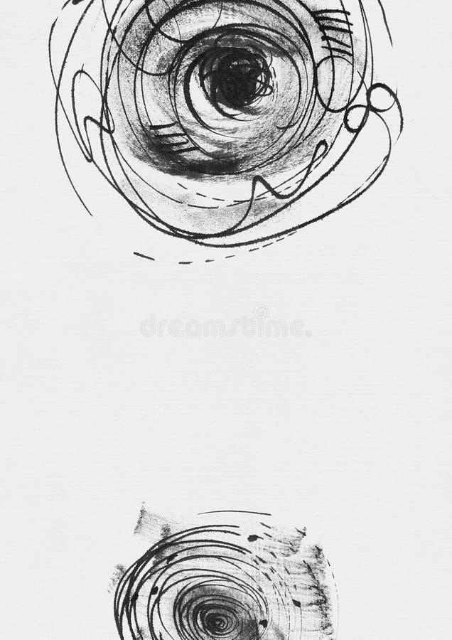 Il modello verticale semplice con inchiostro disegnato a mano circonda, fatto a mano nello stile a mano libera, laconico, imperfe illustrazione vettoriale