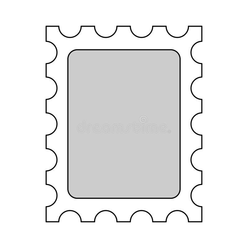 Il modello vuoto del francobollo ha isolato Illustrazione di vettore royalty illustrazione gratis