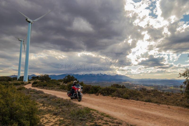 Il modo del motociclo immagine stock