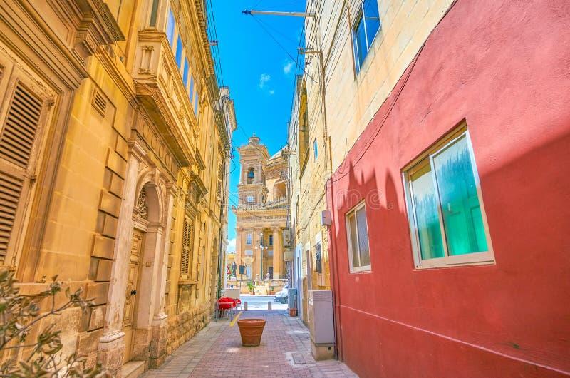 Il modo a rotunda in Mosta, Malta immagine stock